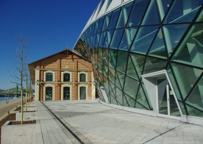 Budapest Danube bank CET building