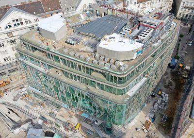 Szervita téri építkezés